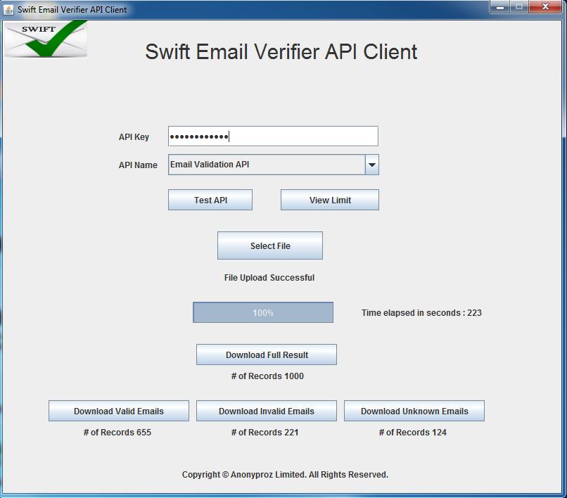 Cross platform java executable email verifier
